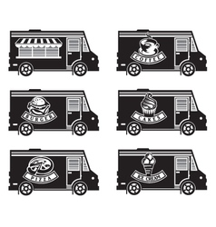 food truck icon designs vector image vector image