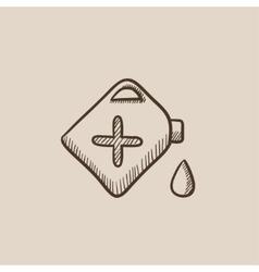Gas container sketch icon vector