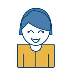 Happy woman icon vector