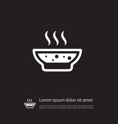 isolated broth icon soup element can be vector image
