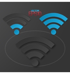 Modern flat minimalistic design wifi vector image vector image
