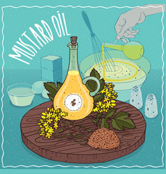 Mustard seed oil used for cooking vector
