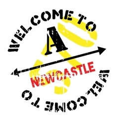 Newcastle stamp rubber grunge vector