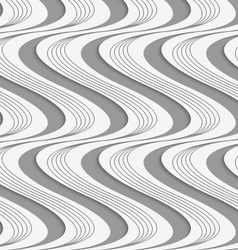 Perforated paper with vertical striped and solid vector