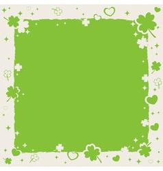 Saint Patricks decorative frame vector image