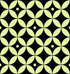 Seamless geometric pattern of yellow circles vector image