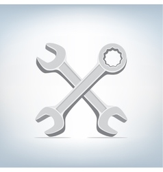 spanner and wrench icon vector image vector image
