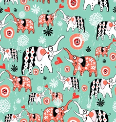 texture of elephant lovers vector image