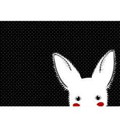 White Rabbit Dots Background vector image