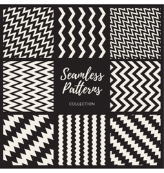 Seamless black and white pattern collection vector