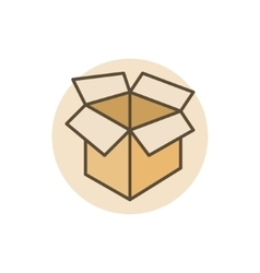 Carton box colorful icon vector