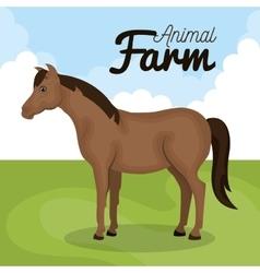 horse animal farm icon vector image