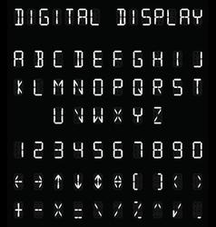 Digital white alphabet vector