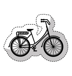 bicycle drawing romanitc card vector image
