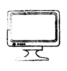 Drawing monitor screen plasma device icon vector