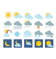 20 weather icons vector