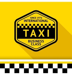 Taxi badge 12 vector
