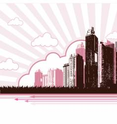 Urban city design vector