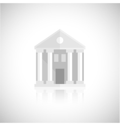 Museum building icon vector