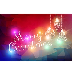Merry Christmas bokeh lights background vector image
