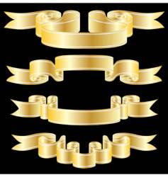 Golden ribbons vector