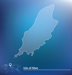 Map of isle of man vector