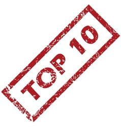 Stamp top 10 vector