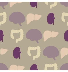 Seamless background with organs of the human body vector