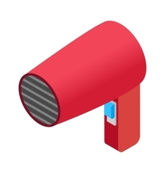 Hairdryer isometric 3d icon vector