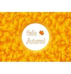 Orange autumn leaves background vector