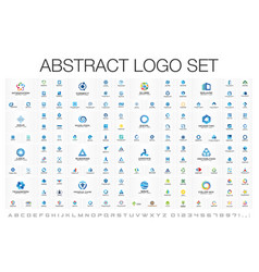 Abstract logo set for business company corporate vector