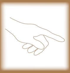 abstract touch point hand old paper vector image vector image