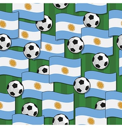 argentina football pattern vector image vector image