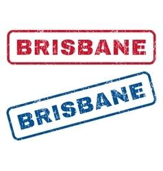 Brisbane rubber stamps vector