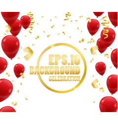 celebration party banner with balloons confetti vector image