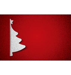 Christmas tree paper vector image