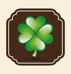 Clover leaf design vector