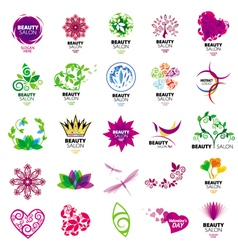 collection of logos for beauty salons vector image vector image
