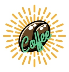 Color vintage coffee emblem vector image vector image