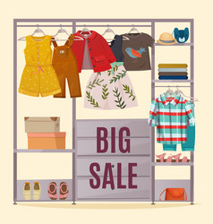 colored wardrobe poster vector image