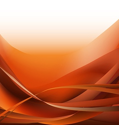 Colorful waves isolated abstract background orange vector image