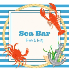 crab and lobster vector image vector image