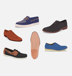 different kind of shoes vector image vector image
