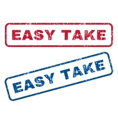 Easy take rubber stamps vector