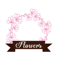 flowers decoration spring label vector image
