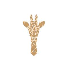 Giraffe head geometric vector