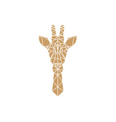 giraffe head geometric vector image vector image