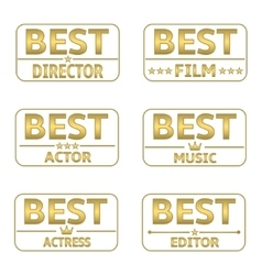 Golden award set vector