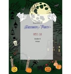 Halloween decorations vector image