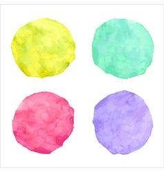 handdrawn bright watercolor circles vector image vector image
